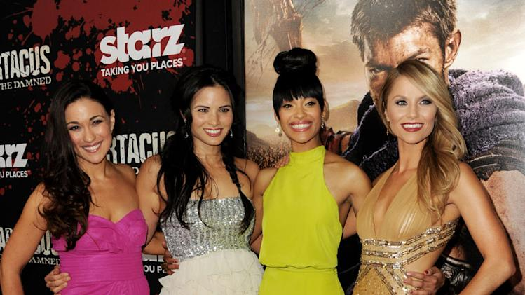 "Premiere Of Starz's ""Spartacus: War Of The Damned"" - Red Carpet: Jenna Lind, Katrina Law, Cynthia Addai-Robinson and Ellen Hollman"
