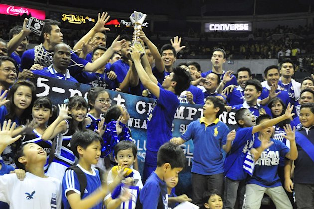 The Blue Eagles and their supporters whoop it up. (NPPA Images)