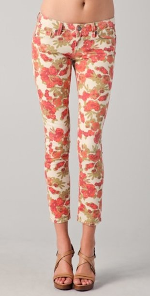 Floral Skinny Jeans from Paige Denim