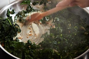 Trent Pierce's Miso Creamed Kale on Food52