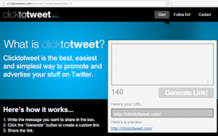 ClickToTweet Makes Requesting Twitter Retweets Easy! image clicktotweet screenshot 1 493x309