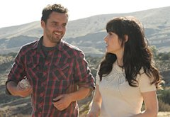 Jake Johnson and Zooey Deschanel | Photo Credits: Ray Mickshaw/FOX