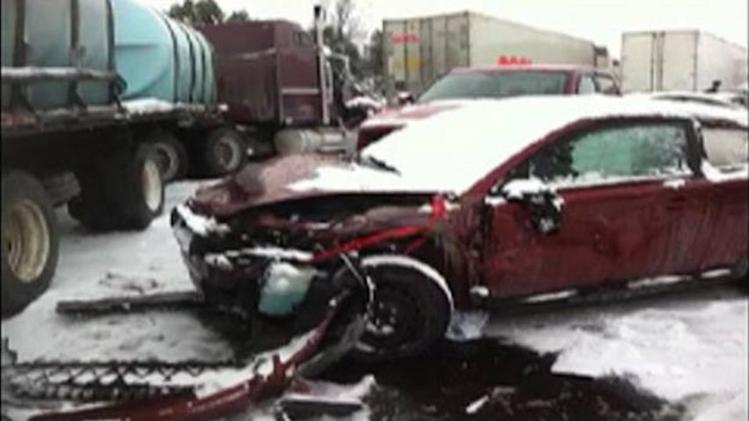 50 car pileup on Ontario highway