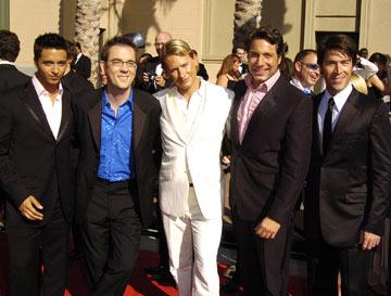 Jai Rodriguez, Ted Allen, Carson Kressley, Thom Filicia and Kyan Douglas 2004 Emmy Creative Arts Awards Arrivals - 9/12/2004