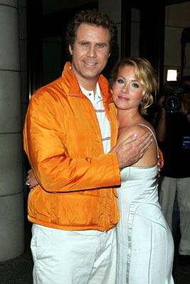Will Ferrell and Christina Applegate at the New York premiere of Dreamworks' Anchorman