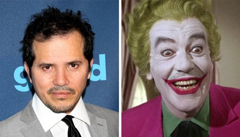 John Leguizamo alongside the classic Joker, Cesar Romero.