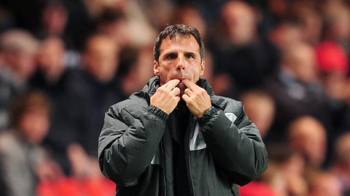 Gianfranco Zola has not a happy man after Matej Vydra's red card against Middlesbrough