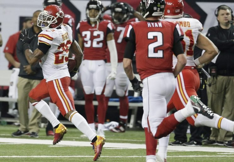 Eric Berry's interception and return for two points was the difference in a dramatic Chiefs win. (AP)
