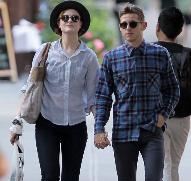 Evan Rachel Wood and her husband Jamie Bell.