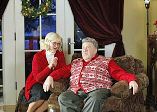 'Cheers' co-stars Shelley Long and George Wendt play North Pole bigwigs Mrs. and Mr. Claus in the movie 'Merry In-Laws.'