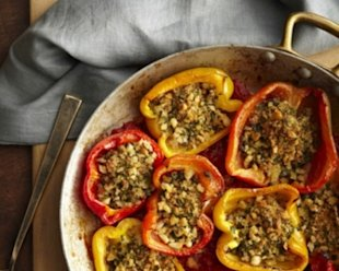 Ann Nurse's Baked Stuffed Peppers