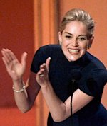 Sharon Stone in a Gap turtleneck at the Oscars