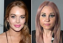 Lindsay Lohan, Amanda Bynes | Photo Credits: Dimitrios Kambouris/WireImages; Getty Images