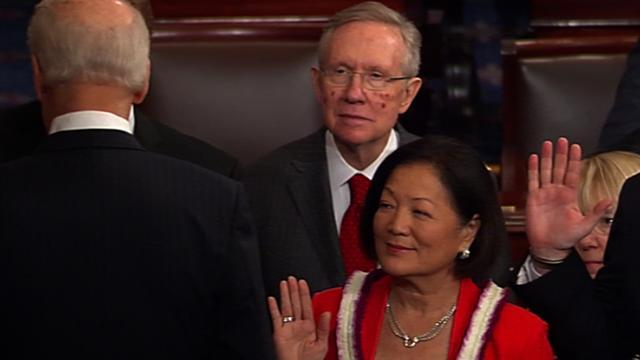 Biden swears in 113th Senate