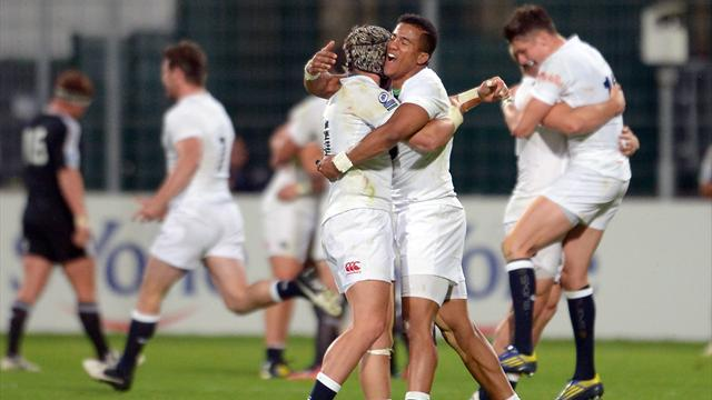 Rugby - England down Wales to finally win Junior World Championship