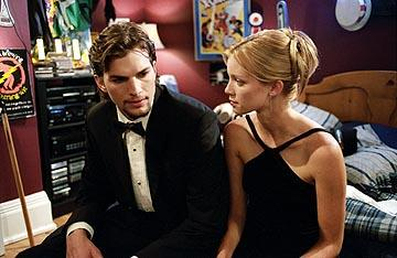 Ashton Kutcher and Amy Smart in New Line's The Butterfly Effect