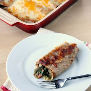 This burrito-enchilada is delicious!