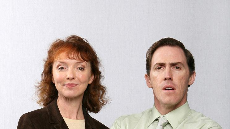 Melanie Walters stars as Gwen and Rob Brydon stars as Bryn in Gavin & Stacey.
