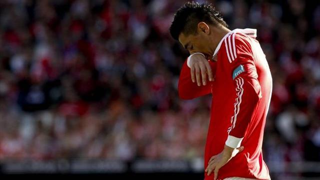 European Football - Benfica's Cardozo apologises for shoving coach Jesus