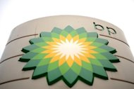 The BP logo pictured at a petrol station in central London, in February 2011. British energy giant BP on Tuesday said its net profit jumped 7.7 percent to $5.43 billion in the third quarter compared to the equivalent period last year as income from divestments offset lower output