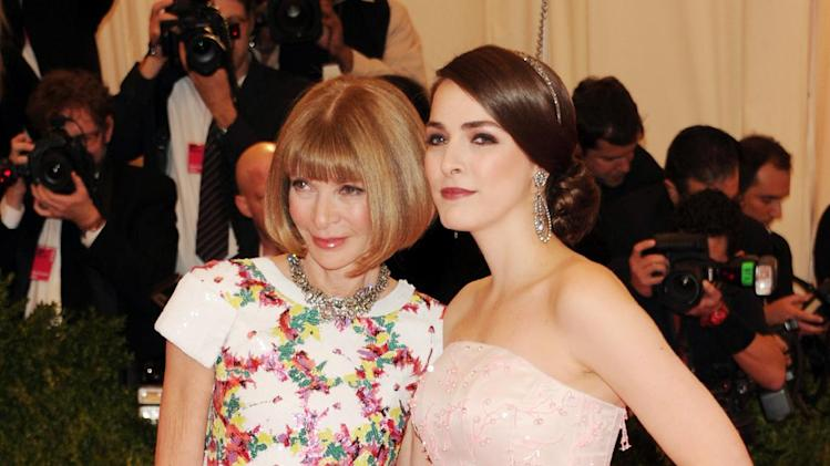 "Anna Wintour, left, and Bee Shaffer attend The Metropolitan Museum of Art's Costume Institute benefit celebrating ""PUNK: Chaos to Couture"" on Monday, May 6, 2013 in New York. (Photo by Evan Agostini/Invision/AP)"