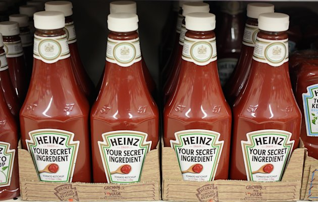 Bottles of H.J. Heinz Co. Tomato Ketchup on February 15, 2013 in London, England. (Getty Images)