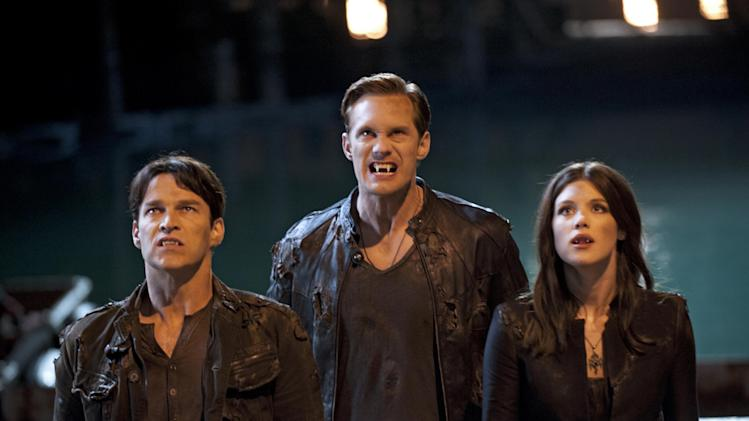 Stephen Moyer, Alexander Skarsgard and Lucy Griffiths