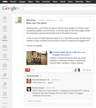 Key to Virality: Whats Hot on Google+ image Google Plus Whats Hot 0404131