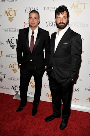 Mark Salling and Simon Hammerstein at the Grand Opening of The ACT in Las Vegas hosted by (BELVEDERE)RED