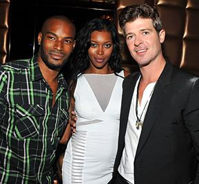 Tyson Beckford, Jessica White, Robin Thicke Party at LAVO