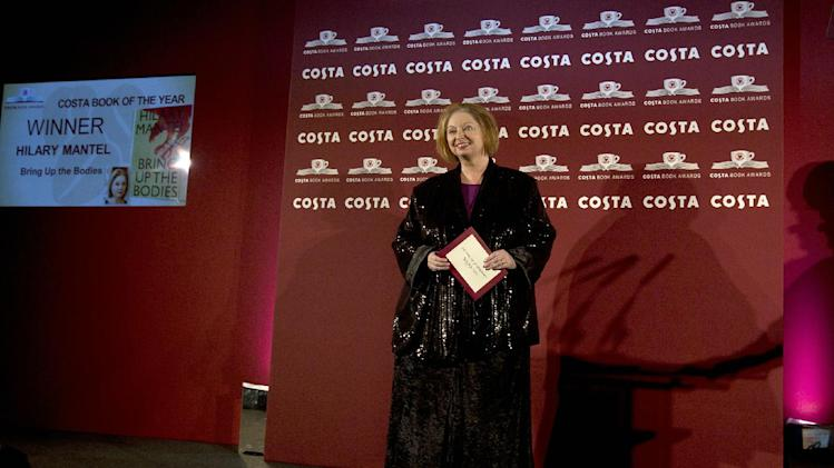 Author and winner of the Costa Book of the Year Award for 2012 Hilary Mantel poses for photographers at the Costa Book awards ceremony in London, Tuesday, Jan. 29, 2013. Mantel won with her book entitled 'Bring Up The Bodies' .(AP Photo/Alastair Grant)
