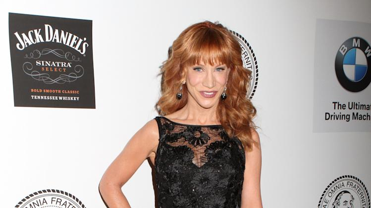 Comedian Kathy Griffin poses for photos at the Friars Club Roast of Don Rickles at the Waldorf Astoria on Monday, June 24, 2013 in New York. (Photo by Greg Allen/Invision/AP)