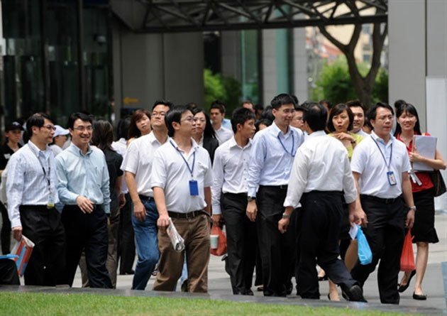 Singapore's income gap has risen over the past year, with its government-transfer-adjusted Gini coefficient rising even higher year-on-year. (AFP file photo)