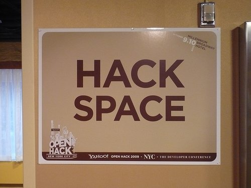 'Hack Space' sign