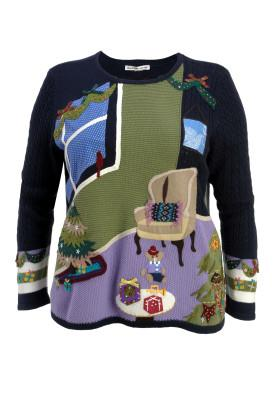 One Christmas morning scenario sweater
