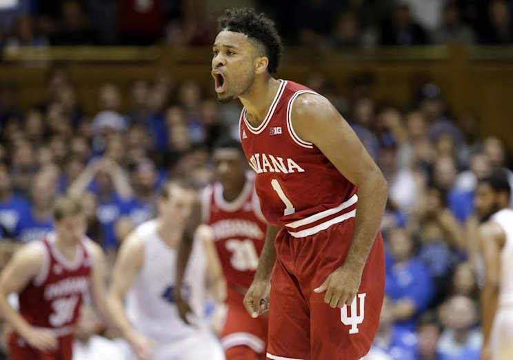 Ten months after tearing an ACL, James Blackmon led the Hoosiers to a big win.