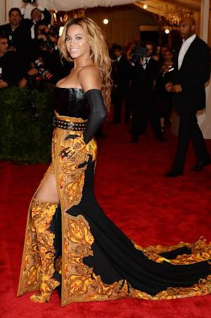 Beyonce attends the Costume Institute Gala for the 'PUNK: Chaos to Couture' exhibition at the Metropolitan Museum of Art on May 6, 2013 in New York City -- Getty Images