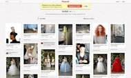 The Oscar de la Renta Pinterest page dedicated to its bridal show