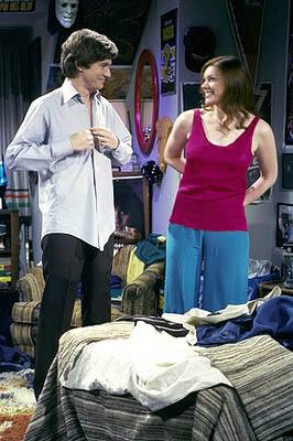"Eric (Topher Grace, L) and Donna (Laura Prepon, R) must deal with the lack of fireworks on the ""Afterglow"" episode of Fox's That 70s Show"