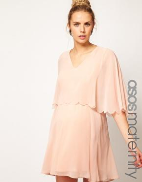 Chiffon Dress With Scalloped Edge