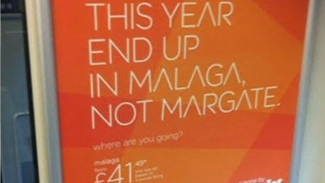 Harsh: The easyjey ad campaign poked fun at Margate (BBC Kent)