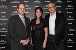 CEO of Candie's, Neil Cole (left), with Bristol Palin and Dr. Drew Pinsky in May, 2010, at a town-hall meeting about teen pregnancy sponsored by the Candie's Foundation. (Photo: Astrid Stawiarz/Getty Images)