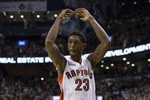 Lou Williams would like you to get up on your feet and clap for him. (AP/The Canadian Press/Chris Young)