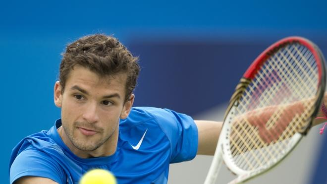 Bulgaria's Grigor Dimitrov Hits AFP/Getty Images