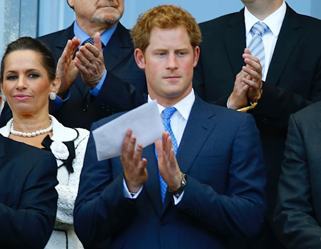 Prince Harry shows up to watch England dead rubber