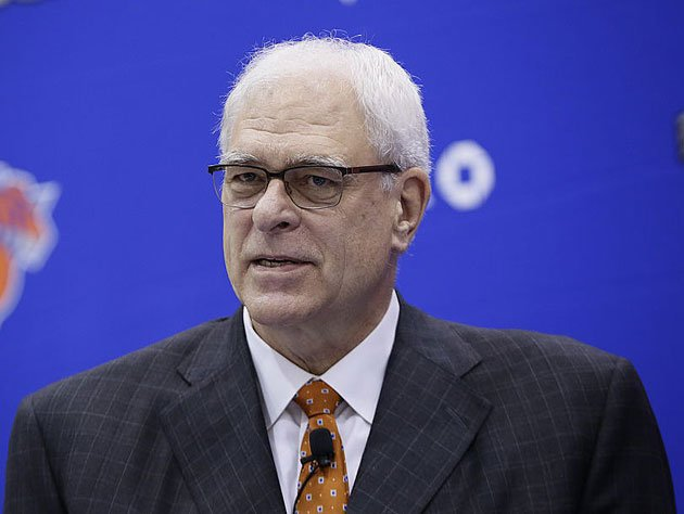 Phil Jackson addresses the media in July. (Getty Images)