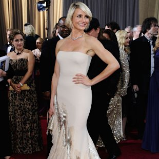Cameron Diaz on the red carpet with toned arms
