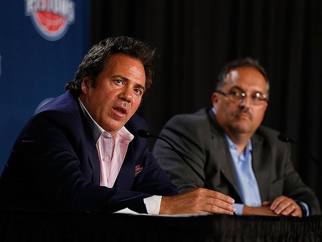 Tom Gores and Stan Van Gundy. (Getty Images)