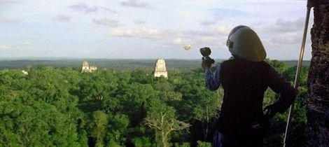 A member of the Rebel Alliance atop one of the Guatemalan temples