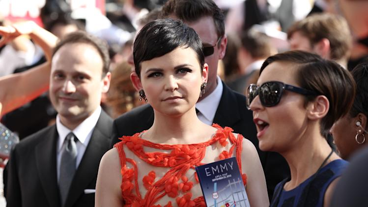 Ginnifer Goodwin arrives at the 64th Primetime Emmy Awards at the Nokia Theatre on Sunday, Sept. 23, 2012, in Los Angeles. (Photo by Matt Sayles/Invision/AP)